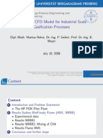 Towards a CFD Model for Industrial Scale Gasification Processes