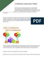 Oraciones De Fb, De Felicitacion, Aniversarios Y Bodas