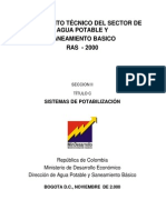 Ras 2000 Titulo c Reglamento Tecnico Sector Agua Potable