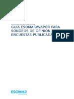 ESOMAR Guia WAPOR Para Sondeos de Opinion y Encuestas Publicadas