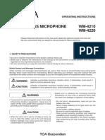 TOA WM-4210 Manual
