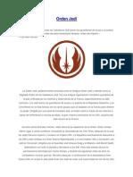 Orden Jedi Origen y Su Historia