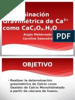 Determinación Gravimétrica de Ca2+ como CaC2O4 (1) (1) (1)