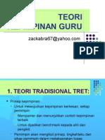 Kepimpinan Sekolah - Teori-teori Kepimpinan 2014