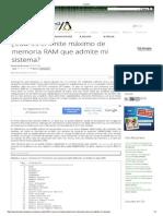 Linuxito Conocer El Maximo de Memoria Del Equipo