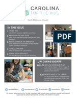 Carolina For The Kids March 2015 Newsletter