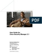User Guide for Cisco Secure Manager 3.1