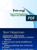 Teori Pelaziman Operan Skinner