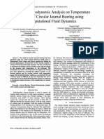 Thermo-Hydrodynamic Analysis on Temperature Profile of Circular Journal Bearing using Computational Fluid Dynamics