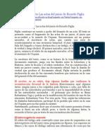 Análisis Del Cuento Las Actas Del Juicio de Ricardo Piglia