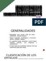T. epitelial. Generalidades y Tipos.1