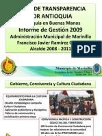 RENDICION DE CUENTAS 2009