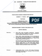 No5thn2007 Peraturan Kabupaten Bekasi