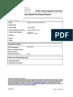 312.carole.ainio@nlc.org.au Anglican Parish of Christ Church ACNC Charity Register Summary