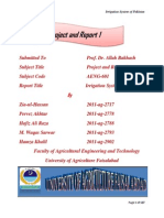 Project and Report 1 Bsc 7th