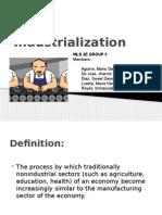 Industrialization - Group 5 MLS 2E