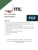 Examen Itil v3 Español Mayo 2010