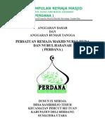 ADRT PERDANA ( Persatuan Remaja Masjid Nururul Huda Dan Nurul hasanah 2014