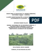 i Taller Material Tecnico - Reforesración 2014