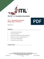 ITIL v3 Foundation Examination Sample Paper 7 v3