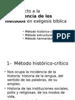 Exégesis y Hermenéutica - Metodos y Bosquejo de conclusión