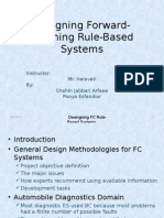 Designing Forward Chaining Rule-Based Systems (CH10)