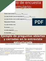 Ejemplo de Encuesta Formulario