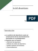 Auditoria Del Absentismo