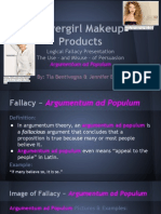 Logical Fallacy Presentation - Covergirl