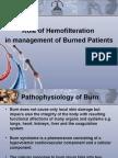Hemofilteration in burn Managment