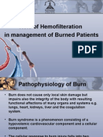 Hemofilteration in burn Managment