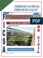 Informe de reconocimiento de Puentes de Lambayeque
