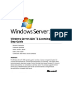 Windows Server 2008 TS Licensing Step-By-Step Guide