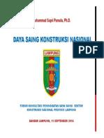 Daya Saing Konstruksi - LAMPUNG 2014
