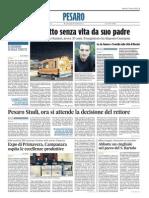 Pesaro Studi, ora si attende la decisione del Rettore - Il Corriere Adriatico del 17 marzo 2015