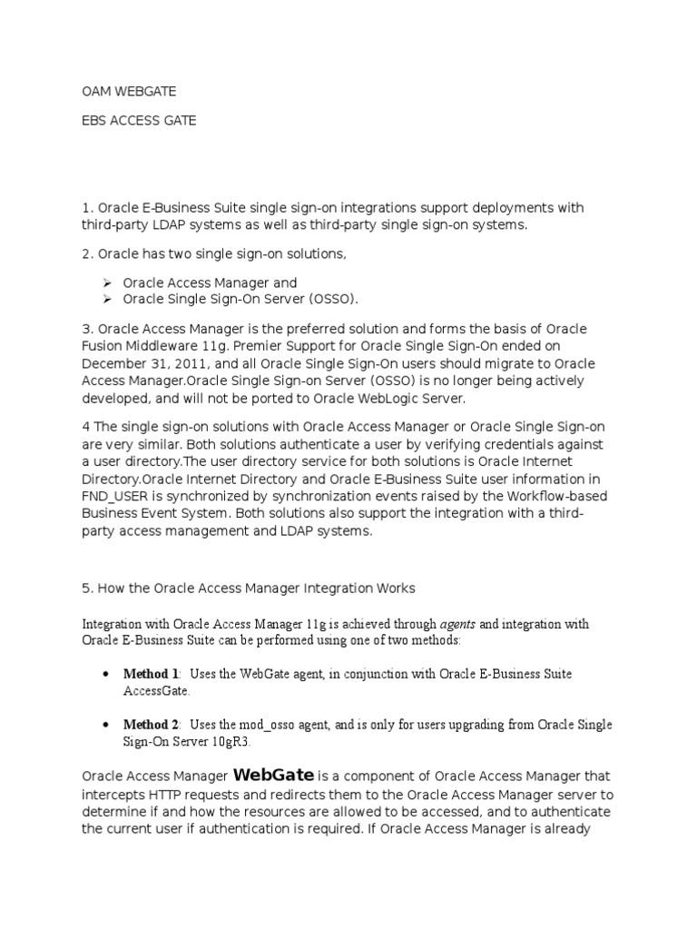 Sso | Oracle Database | Secure Communication