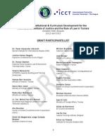 RoL Brussels 10-11 April Draft Participants List