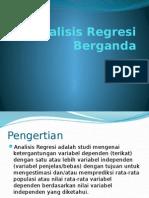 Analisis Regresi Berganda 1