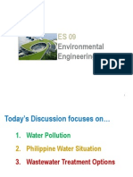 Water Pollution, Philippine Waters, And Wastewater Treatment