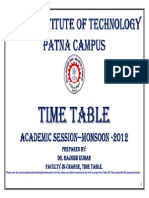 Time Table2012