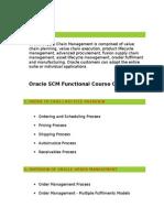Oracle SCM Functional Online Training