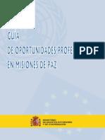 Guía de Oportunidades Profesionales en Misiones de Paz