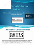 IRS IRS Enforced Collection Actions and its AlternativesEnforced Collection Actions