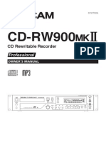 TASCAM CD-RW900MKII Manual