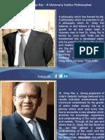 Dr. Vinay Rai – a Visionary Indian Philosopher