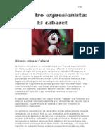 El Teatro Musical Expresionista- El Cabaret