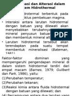 Mineralisasi & Alterasi Dalam Sistem Hidrothermal