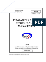 Pengantar Sistem Pengendalian Manajemen