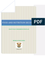 Food and Nutrition Security Implementation Plan 19 DECEMBER 2014