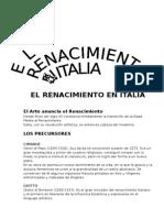 Renacimiento Artistico en Italia